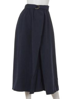 ベルト付ピーチラップ風スカート