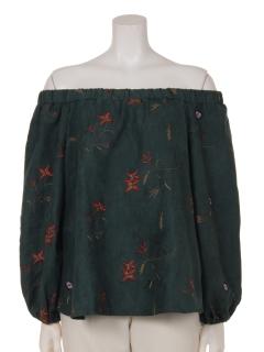 総刺繍バルーン袖オフショル