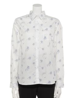 おじさん総柄長袖シャツ
