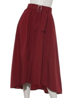ベルト付ヘムスカート