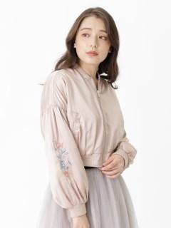 ボリューム袖刺繍ショート丈MA-1