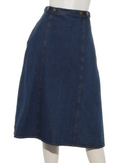 デニムミドル丈スカート