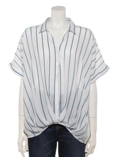 5分袖たけのこスキッパーシャツ