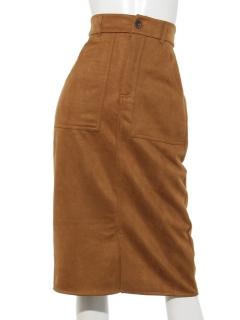 ポンチフェイクスエードタイトスカート