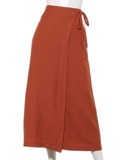 リネンライクラップタイトスカート