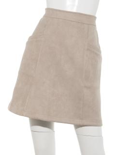 フェイクスエードポンチ台形スカート