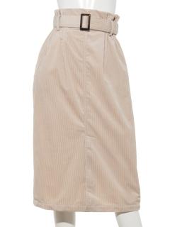 ベルト付コーデュロイスカート