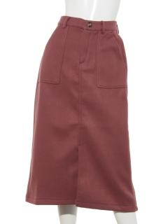 フェイクウールタイトスカート
