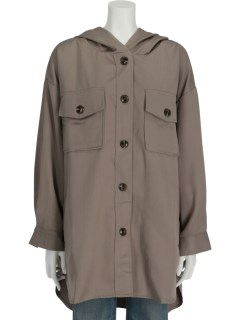 フード付シャツジャケット