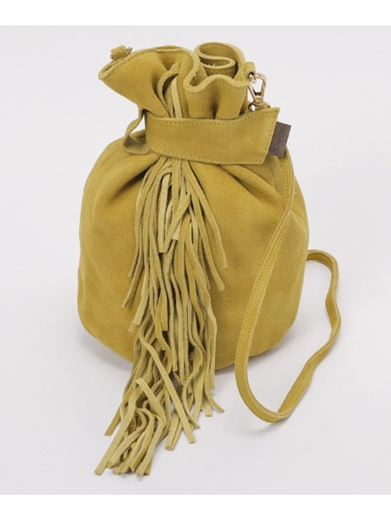 LAUGOA (ラウゴア) Anemone巾着ショルダーバッグ イエロー