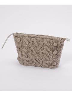 もこもこ編みクラッチバッグPaola