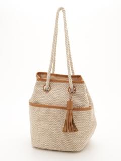織り模様シートバッグ