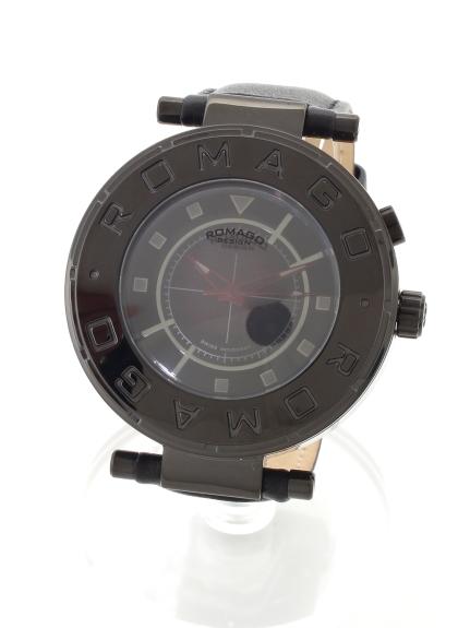 ROMAGODESIGN (ロマゴデザイン) 【ユニセックス】腕時計 Flow series(フローシリーズ) ブラック