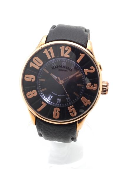 MAX ROMAGODESIGN (ロマゴデザイン) 【ユニセックス】腕時計Numerationseries(ヌメレーションシリーズ) ローズゴールド