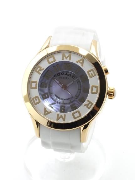 ROMAGODESIGN (ロマゴデザイン) 【ユニセックス】腕時計Attractionseries(アトラクションシリーズ) ゴールドホワイト