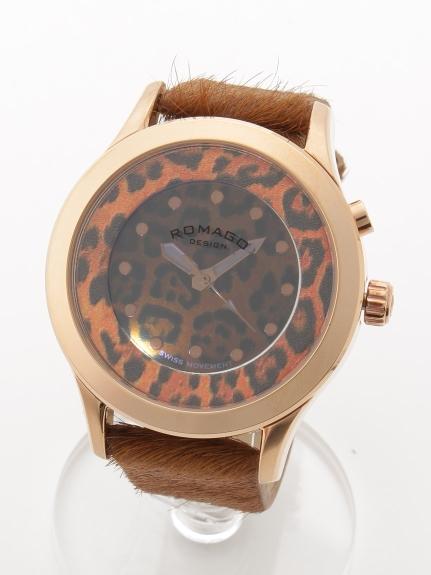 MAX ROMAGODESIGN (ロマゴデザイン) 【ユニセックス】腕時計Vibrancyseries(ヴァイブランシーシリーズ) ブラウン