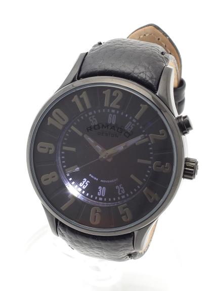 ROMAGODESIGN (ロマゴデザイン) 【ユニセックス】腕時計Numerationseries(ヌメレーションシリーズ) ブラック
