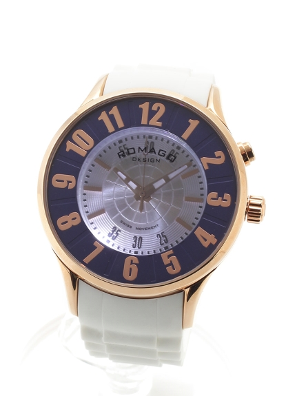 ROMAGODESIGN (ロマゴデザイン) 【ユニセックス】腕時計Numerationseries(ヌメレーションシリーズ) ローズゴールドブルー