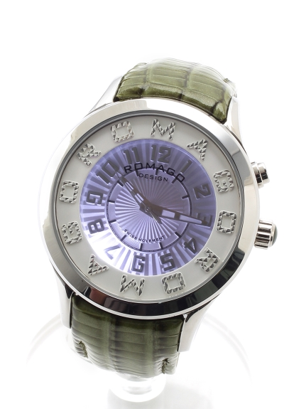ROMAGODESIGN (ロマゴデザイン) 【ユニセックス】腕時計Attractionseries(アトラクションシリーズ) グリーン