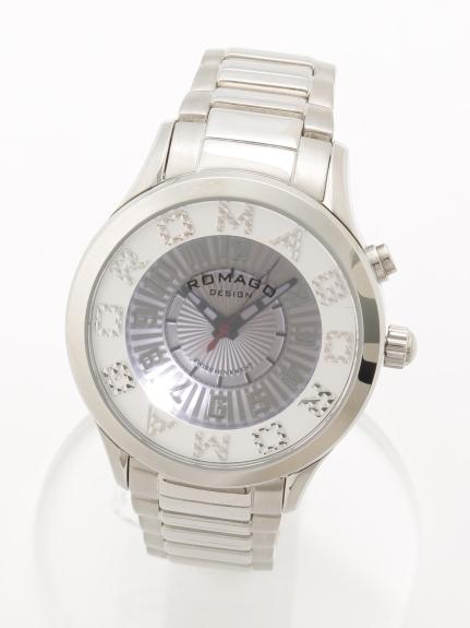 ROMAGODESIGN (ロマゴデザイン) 【ユニセックス】腕時計Attractionseries(アトラクションシリーズ) シルバーホワイト
