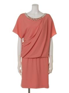 ジョーゼットビジュねじりドレス