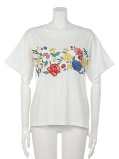フラワー刺繍ルーズフィットT