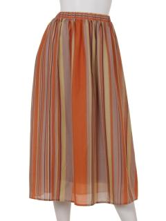 スパンボイルストライプスカート