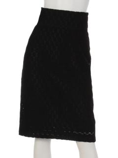バックコンシャスストレッチドットスカート