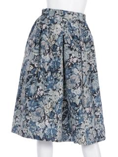フラワーパンツフレアスカート