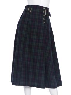 TRタータンチェックウエストデザインスカート