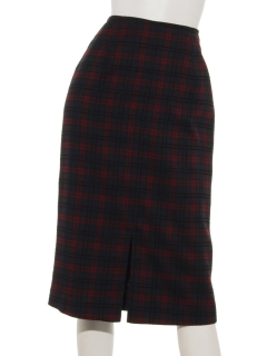 【IW】ドビーチェックタイトスカート