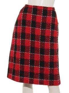 ブロックチェックツイードスカート