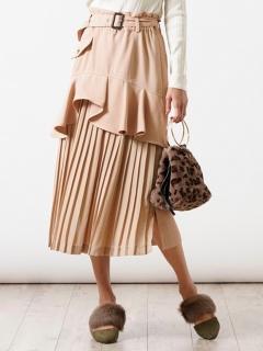 【dollupoops】ベルト付3WAYスカート