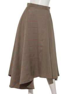 グレンチェックブロックスカート