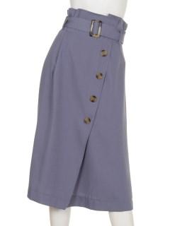 Tツイルラップ風ベルト付スカート