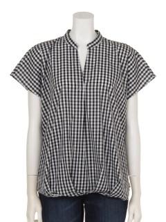 ギンガムチェック裾タックスキッパーシャツ