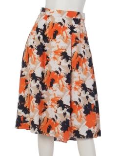 カルゼフラワープリントスカート