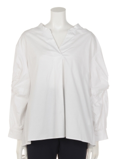 ストレッチブロード袖ねじりシャツ