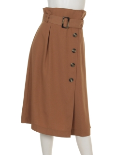 Tツイルラップ風ベルト付スカート2