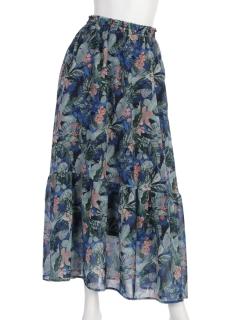 スパンビエラリゾートプリントスカート