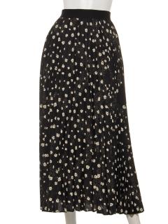小花柄アコーディオンプリーツスカート