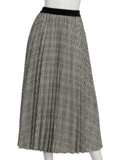 クラシカルチェックプリントスカート