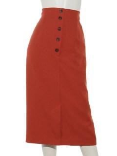 前釦ロングタイトスカート
