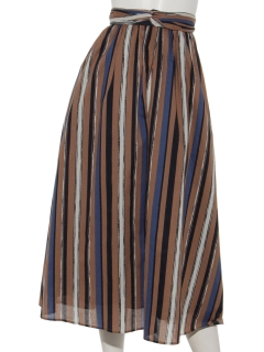 マルチストライプスカート