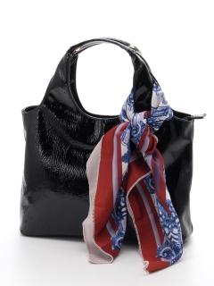 スカーフ付エナメルバッグ