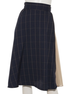 TRウインドペンチェック異素材切替スカート