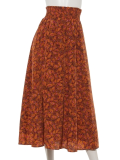 レトロリーフプリントマキシスカート