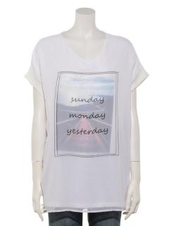 VネックSeenery3DTシャツ