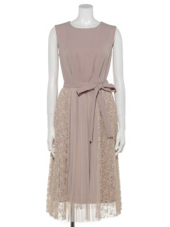 プリーツ巻きスカート付2WAYドレス