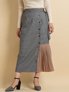TRガンクラブ*無地配色デザインスカート